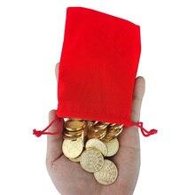 100pcs 25*1.85mm Game Token Brass Arcade Game Coin Pentagram Crown Tokens