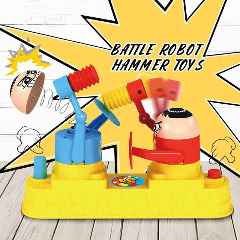 Hot ! Double Battle Board Interactive Table Game Hammer Robot Puzzle Toys For Kids Adults Pressure Reduction