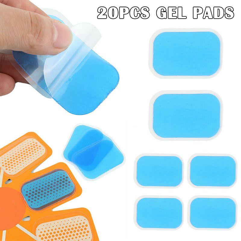 Newly 20pcs Abs Stimulator Gel Pads Sheet Fitness Belt Waist Muscle Trainer Pad SD669