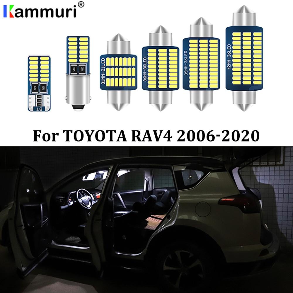 Светодиодный светильник для салона автомобиля kammusi 11X, белый, без ошибок, посылка в комплекте для 2006  2017, 2018, 2019, 2020, Toyota RAV4, светодиодный светильник для салона автомобиля|Сигнальная лампа|   | АлиЭкспресс
