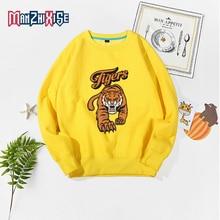 2019 New Autumn Children Cartoon Sweaters Girls Clothing Boys Long Sleeve Tiger Top Kids Comfortable Clothes Sweatshirts