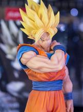 цена на 22cm Dragon Ball Z Goku Action Figure PVC Collection Model Toys Brinquedos for Christmas Gift Have The Base Toys for Children