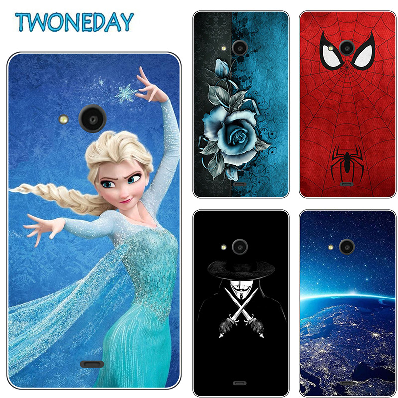Fashion Soft Silicon Case TPU Cover Nokia Microsoft Lumia 535 532 540 550 435 430 630 640 640XL 650 Flower Cartoon Capa Coque image