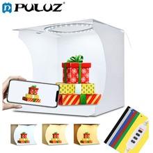 PULUZ 20 センチメートルミニ LED リングライトボックスライト写真スタジオ写真撮影スタジオ撮影テントボックスキット & 6 色のバックドロップ