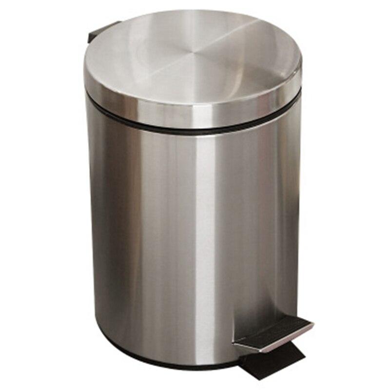 8l banheiro lata de lixo passo redondo pé pedal balde de lixo com tampa desktop banheiro cozinha balde carro lata de lixo|Cestos de lixo| |  - title=