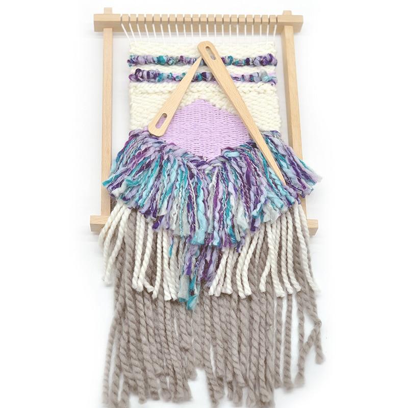 Hot Sale Diy Wooden Weaving Loom Tools Tapestry Darning Big Eye Yarn Knitting Needles Needlework Crafts Sewing Needle Tool 5pcs