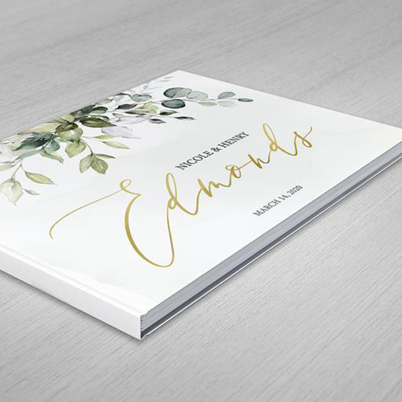 Personalized Greenery Wedding Guest Book Alternatives Wreath Guestbook White Wedding Guestbook Album Custom Names Wedding Gifts