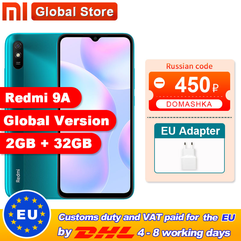 Xiaomi Redmi 9A Mobile-Phone 32GB 13MP New MTK Global-Version Octa-Core 5000mah-13mp-Camera