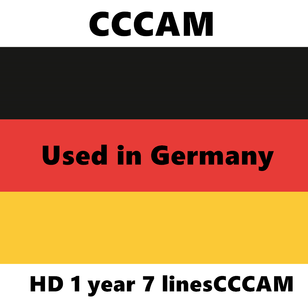 2020 New 7 Line For 1 Year Cccam Sever HD Very Stable In HD+, Sky Germany, ORF, ATV.