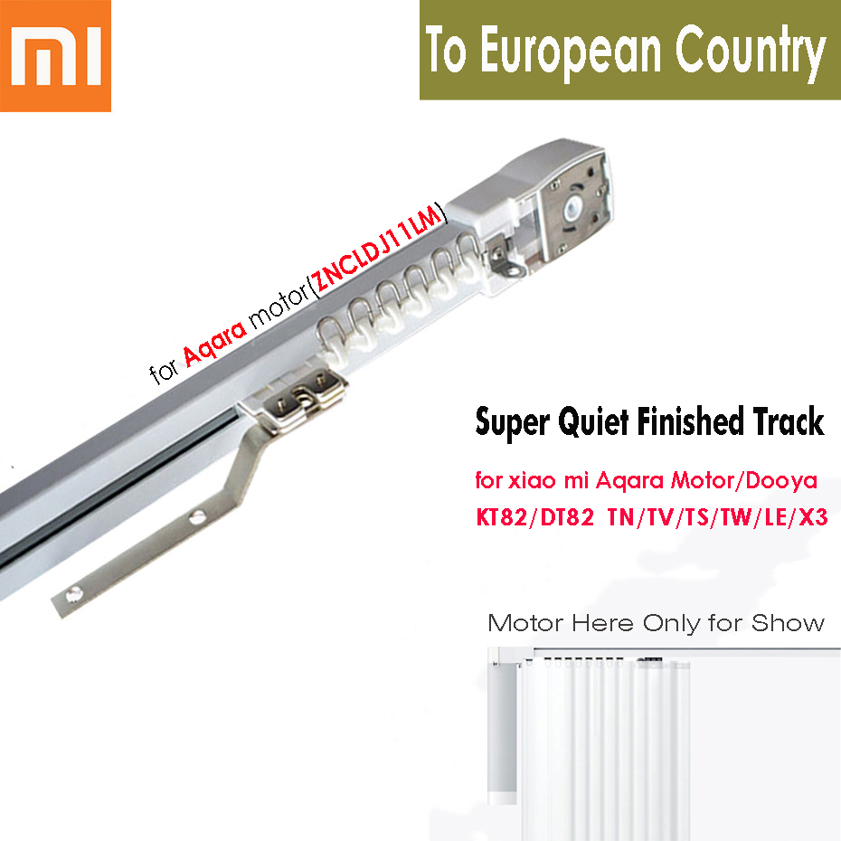 Customize Electric Curtain Track For Xiaomi Aqara/Dooya KT82 DT82 TN/TV/TS/LE,Smart Curtain Rails Control System,To EU Country