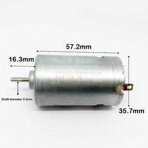 G микро-555 мотор-редуктор постоянного тока 12 V-24V угольные щетки спереди шарикоподшипник высокой Скорость большим вращающим моментом DIY Элект...