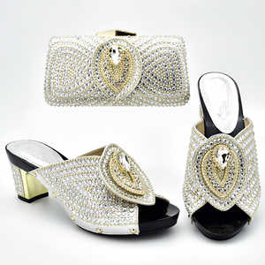 Image 2 - Italian Shoes with Matching Bags 2019 Shoe and Bag Set for Party In Women Nigerian Women Party Pumps with Purse Women High Heels