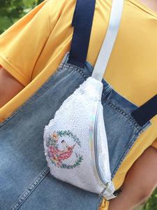 AIREEBAY Waist-Bag Fanny-Pack Shoulder-Belt-Bags Unicorn Sequins Women Phone Girls Fashion