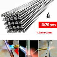 Tiges de soudage à basse température en aluminium, 10/20x330/2mm, 1.6 pièces, pas de soudure en poudre, fil à souder, TIG Argon Arc, matériel de soudage