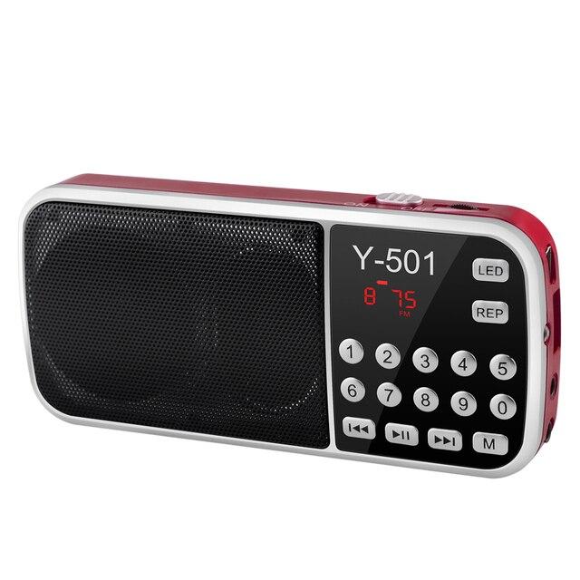 جديد حار راديو محمول عالية الطاقة مشغل MP3 الصوت الرقمي مشغل موسيقى مع مصباح ليد جيب