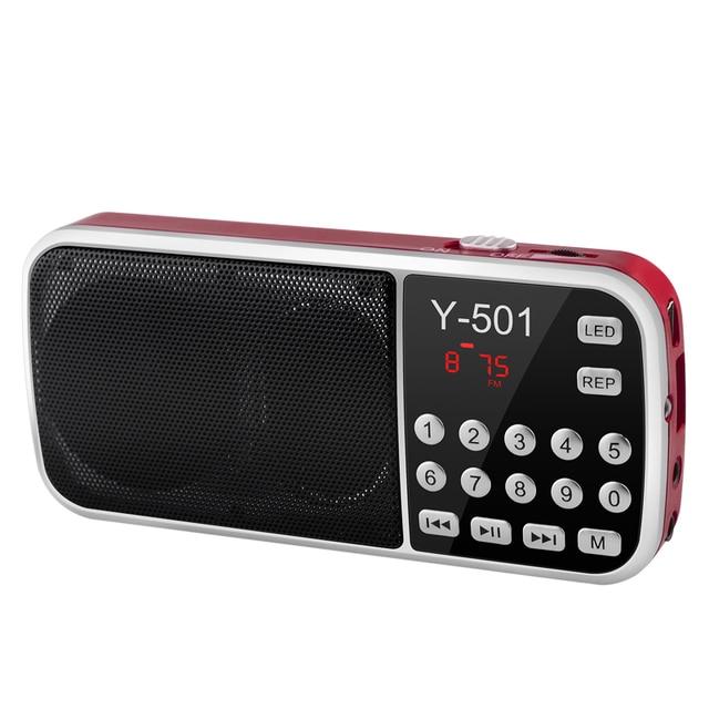 New Hot Portable Radio High Power MP3 Player Digital Audio Music Player with LED Flashlight