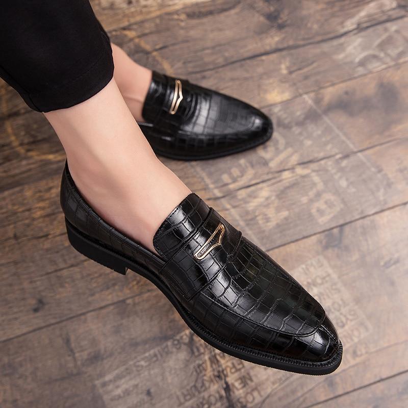 Итальянская обувь; Повседневная брендовая Роскошная официальная обувь без шнуровки; Мужские лоферы; Мокасины; Обувь для вождения из натура...