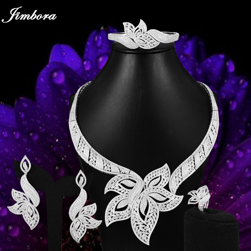 GODKI Africa Dubai Bridal Wedding Jewelry Sets Luxury Noble Leaf Gold Necklace Earrings Rings Bracelets Jewellery High Quality