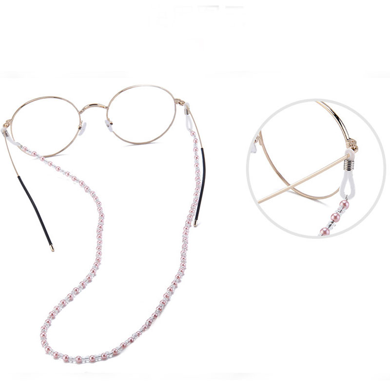 Elegant Eyeglass Chain Sunglasses Reading Beaded Glasses Chain Eyewear Rope Lanyards Rose Gold Silver Glass Cord Neck Strap