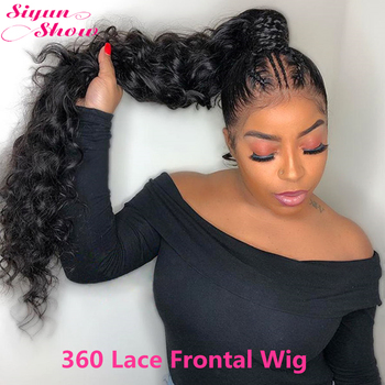 30 Inch Loose Deep Wave Wig Glueless 250 Density 360 Lace Frontal Wig Pre Plucked 360 Full Lace Wig Human Hair Siyun Show image
