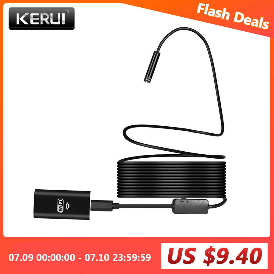 KERUI WIFI Endoskop Kamera Mini Wasserdicht Weiche Kabel Inspektion Kamera 8mm 1M USB Endoskop Endoskop IOS Endoskop Für iphone