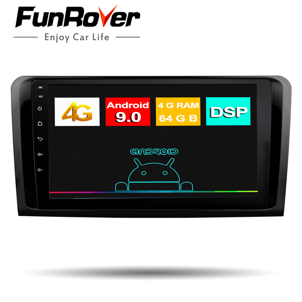 Funrover octa core android9.0 2 din car <font><b>radio</b></font> multimedia dvd gps for <font><b>Mercedes</b></font> Benz <font><b>ML</b></font> <font><b>W164</b></font> GL X164 ML350 ML320 ML280 GL350 GL450 image