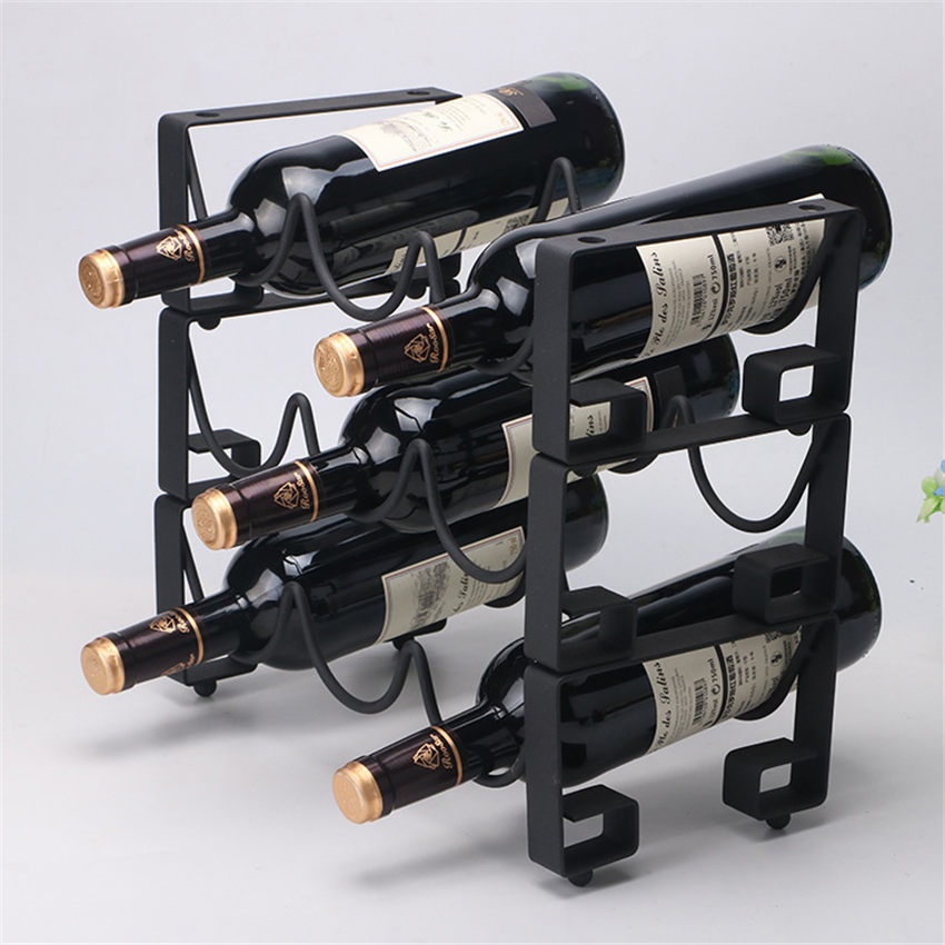 1pcs Layer Red Wine Rack Wrought Iron