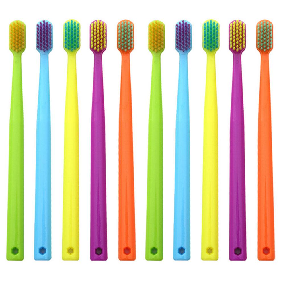 10pcs/set Toothbrush Oral Care Super Soft Health Manual Ergonomic Compact Bristle Bathroom Family Non Slip Portable Colorful