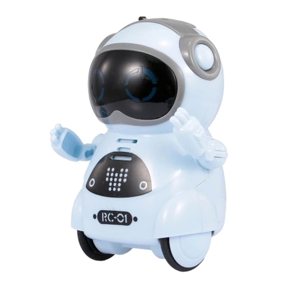 2019 HOT Intelligent Mini Pocket Robot Walk Music Dance Light Voice Recognition Conversation Repeat Smart Kids Toy Interactive