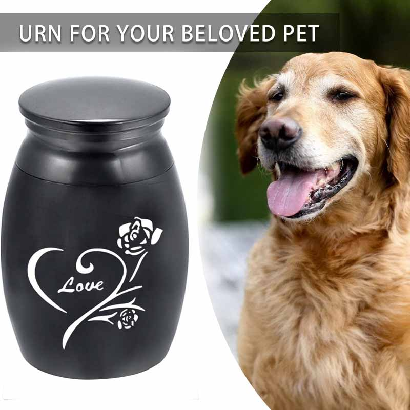 Mini Metal Pet Cremation Urns Beloved Pet Keepsake Pets Dog Cat Birds Mouse Cremation Ashes Holder Memorial Home Storage Box