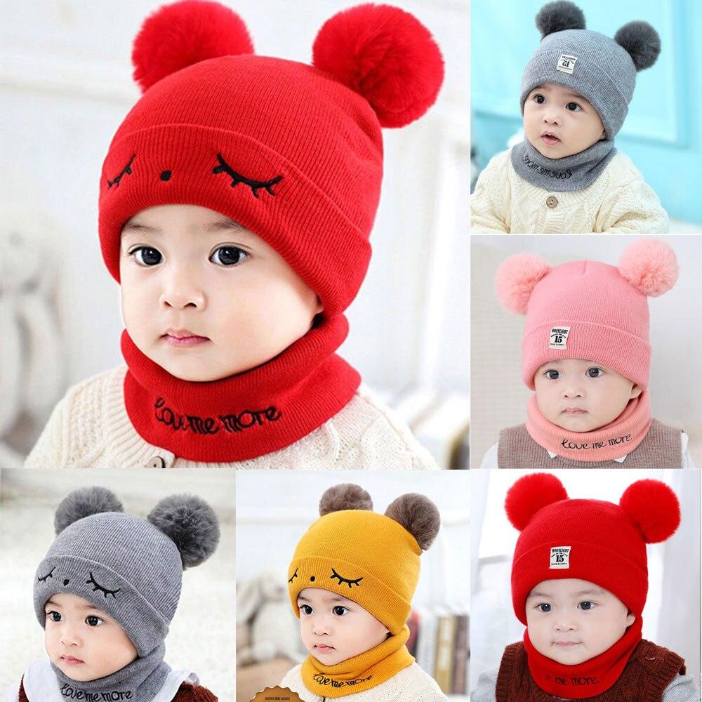 2 предмета, новый детский костюм с шапочкой и шарфом осенне зимний вязаный детский комплект с шапочкой и шарфом, хлопковые шапки для мальчиков и девочек, детский шарф с шеей|Шапки и кепки|   | АлиЭкспресс