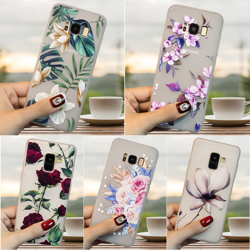 3D Blume Relief TPU FÜR <font><b>Samsung</b></font> <font><b>Galaxy</b></font> J3 <font><b>2017</b></font> <font><b>J5</b></font> J7 J4 2018 J6 Plus J8 J1 J3 <font><b>J5</b></font> J7 2016 J2 Prime J7 Neo Fall Silikon Abdeckung image