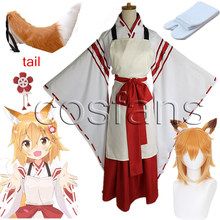 Costume de Cosplay Anime The serviable Fox Senko San Sewayaki Kitsune No senko-san, perruque uniforme de Cosplay pour étudiantes, ensemble jupe chemise