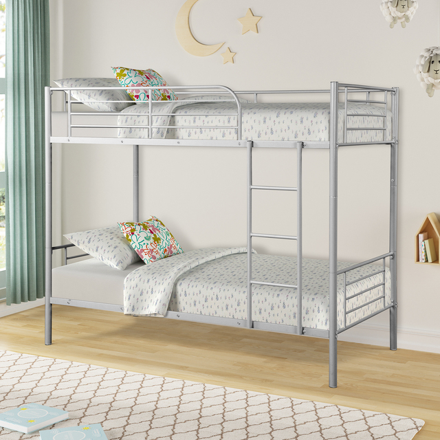 Twin Over Twin Loft Bunkbeds w/Metal Stairs 4
