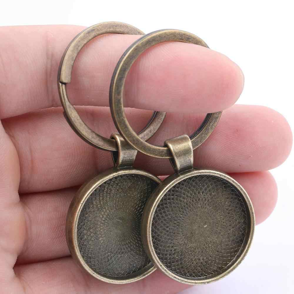 5pcs 25mm Key Charm Base Setting,1inch Bronze Round Blank Findings Trays-b2045