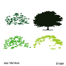 AZSG Lush trees Clear Stamps Cutting Dies Set for DIY Scrapbooking/photo Album Decorative Craft Chapte