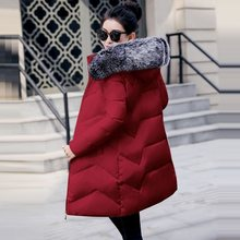 Plus Size S-6XL Women Winter Coat Fake Fur Collar Woman Parka Long Outerwear Warm Down Jacket Winter Jacket Female Coat New 2019(China)