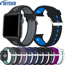 metal strap for apple watch band 42mm 38mm watch band 44mm 40mm sport bracelet watchband for i watch 5 4 3 2 1 wristband belt For apple watch 5 4 3 2 1 Soft Silicone strap For Apple Watch band 40mm/44mm Band 38mm 42mm Sport bracelet fashion watchband