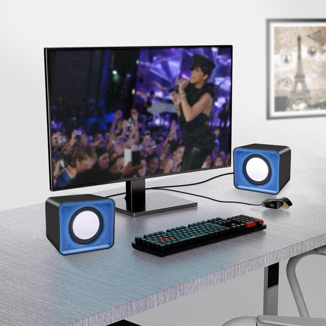 kebidu Universal USB 2.0 Music Speaker 3.5mm Pulg Mini Music Stereo Speakers For Multimedia Desktop Computer Notebook 6