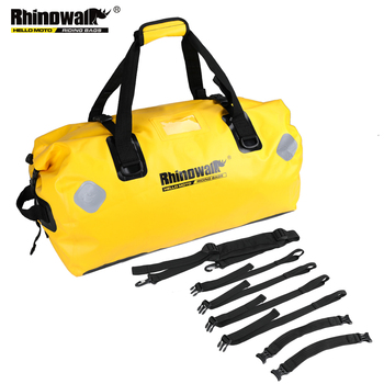 Rhinowalk 65L  Waterproof Bag Motorcycle Durable Large Capacity Motorcycle Dry Duffel Bag for Travel Hiking Camping osah drypak motorcycle waterproof tail bags multi functional durable rear motorcycle seat bag high capacity waterproof pvc bag