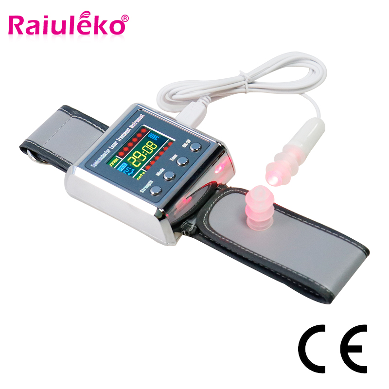 Household 650nm Laser Physiotherapy Wrist Diode LLLT For Diabetes Hypertension Treatment Diabetic Watch Laser Sinusitis Therapy