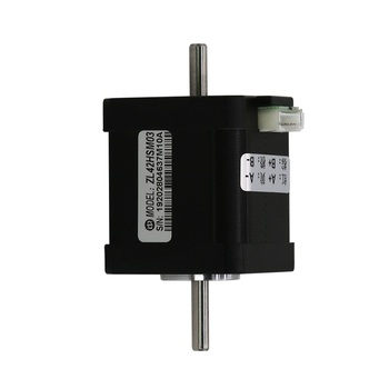 цена на 2-phase 1.8 degree 42 series Nema17 double dual shaft axis 0.4N.m 1.2A dc brushless stepper stepping motor for labeling machine