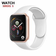 50% 할인 42mm 여성 스마트 워치 시리즈 4 블루투스 연결 안드로이드 전화 IOS 애플 아이폰 6 7 8 X Smartwatch 남자