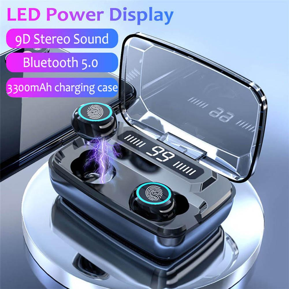M11 Bluetooth 5.0 TWS Wireless Stereo Earphones With Digital Display Charge Box