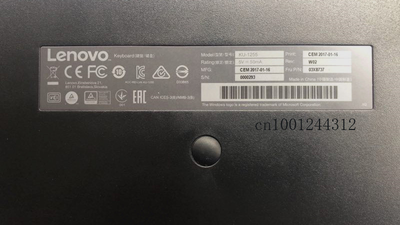 Image 5 - New Original for Lenovo ThinkPad Norway USB Keyboard with  Pointing stick mouse KU 1255 Tablet PC Laptop Trackpoint 03X8737Laptop  Repair Components