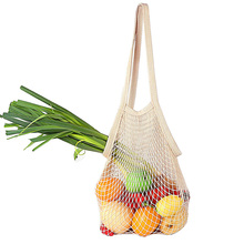 Produce-Bags Washable Long-Handle Cotton Net String for Natural