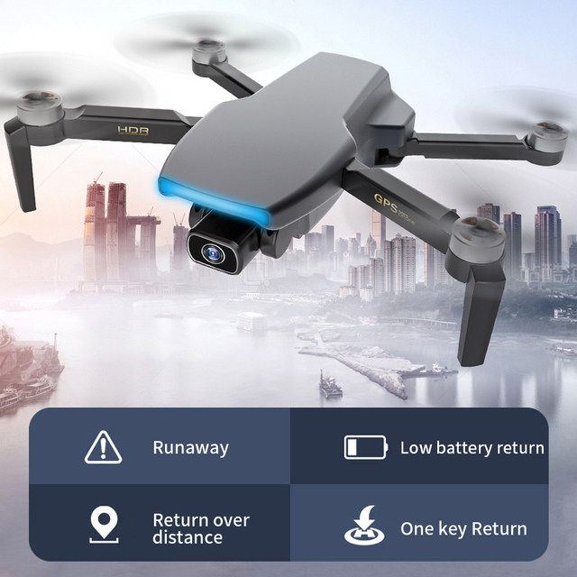 Zangão sem escova de fema s3 gps com câmera 4k hd 5g wifi dron fpv zangão 25 minutos distância rc 1km profissional rc quadcopter pk ex5 2
