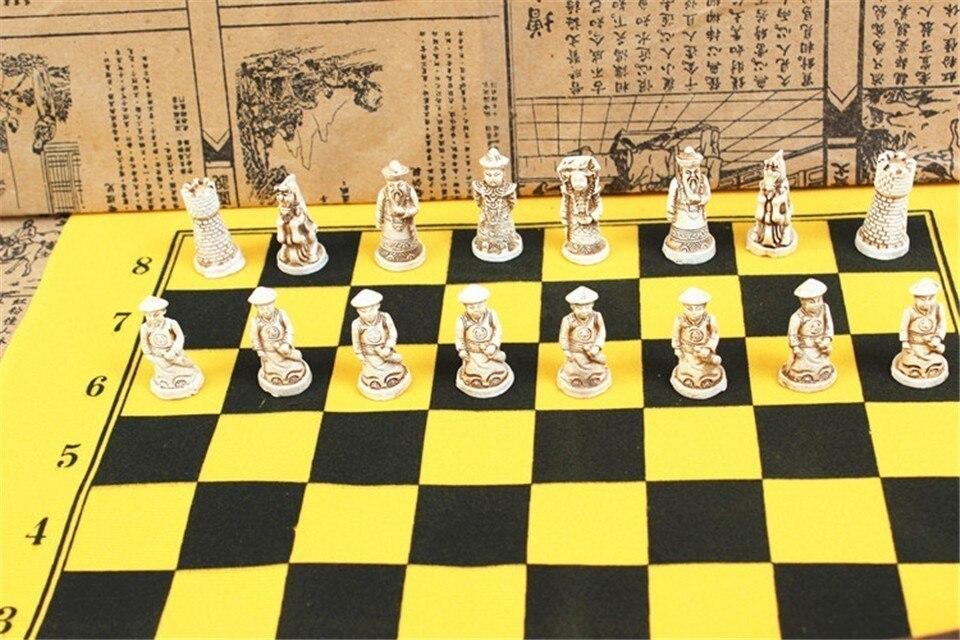 Nova antiguidade xadrez pequena placa de xadrez