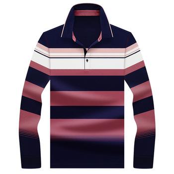 Męskie koszulki Polo 2020 New Arrival jesień wysokiej jakości haft Polo koszula modne koszulki Polo męska koszulka Polo z długim rękawem Polo tanie i dobre opinie Pełne CN (pochodzenie) REGULAR Na co dzień NONE W paski COTTON Odporna na mechacenie Kolor kontrastu