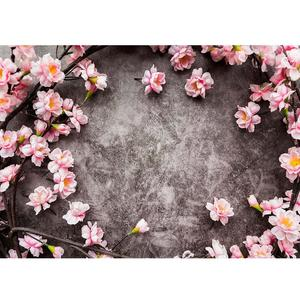 Image 1 - Pink Flowers Gray Wall Photo Backgrounds Vinyl Cloth Photobooth Backdrop for Children Baby Lovers Photocall Photography Props
